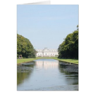Schloss Benrath - View over Mirror Pond Greeting Card