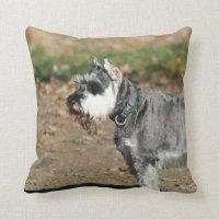 Schnauzer dog pillow | Zazzle