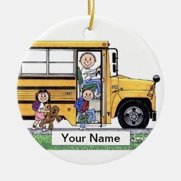 School Bus Driver - Male Ceramic Ornament