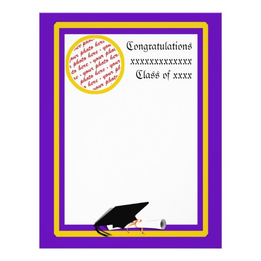 Graduation 5 Border X 11 8 Purple