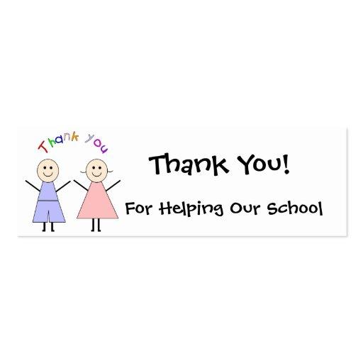 School Fundraiser Thank You Card Double-Sided Mini