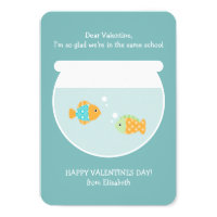 School of Fish Classroom Valentines Card