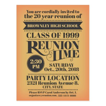 School reunion design postcard