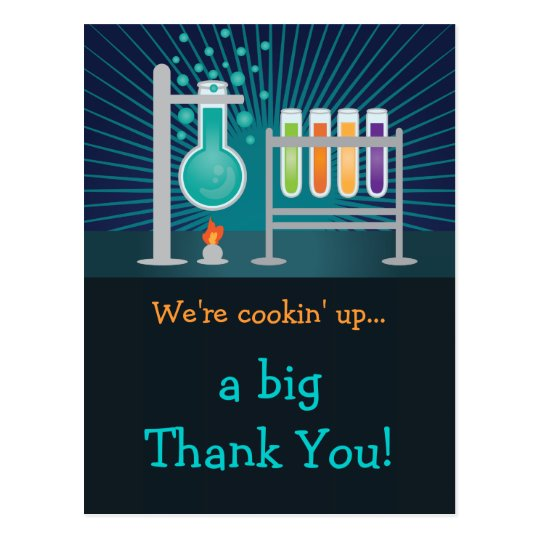 Science Laboratory Birthday Thank You Card Zazzle Com