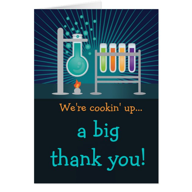 Science Laboratory Birthday Thank You Postcard Zazzle Com