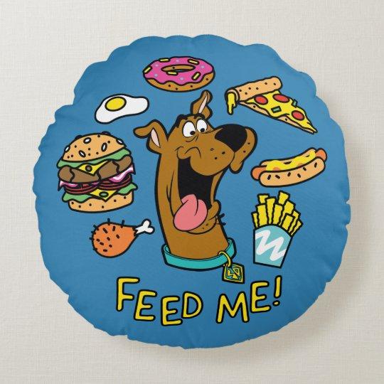 ScoobyDoo Feed Me Round Pillow  Zazzlecom