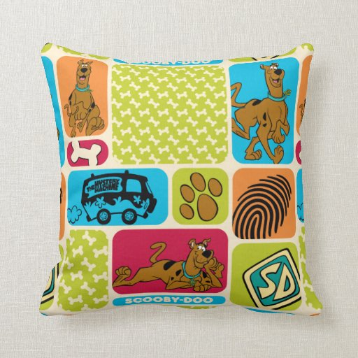 ScoobyDoo Mystery Pattern Throw Pillow  Zazzle