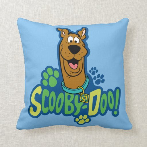 ScoobyDoo Paw Print Character Badge Pillow  Zazzle