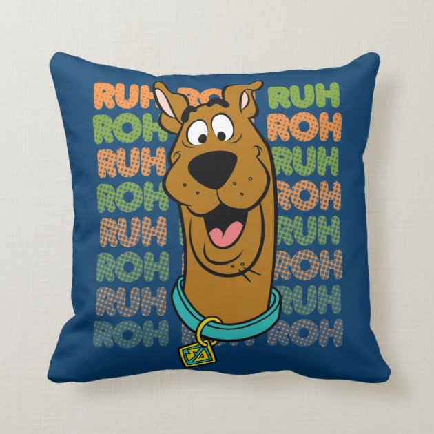 ScoobyDoo Ruh Roh Throw Pillow  Zazzle