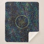 Scorpio Zodiac Gold Abalone on Constellation Sherpa Blanket