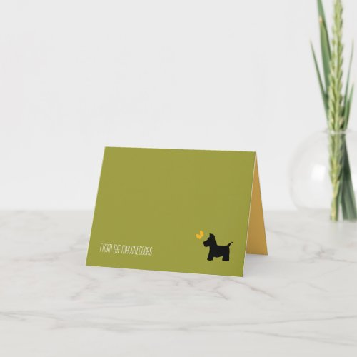 Scottie Dog Stationary to Customize Note Card