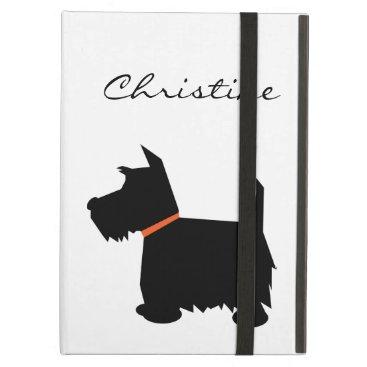 Scottish Terrier dog silhouette custom girls name Case For iPad Air