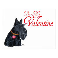 Scottish Terrier Love Postcard