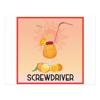Screwdriver Post Card