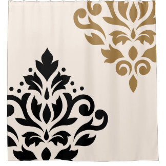 Appealing Cream And Black Shower Curtain Pictures   Best .