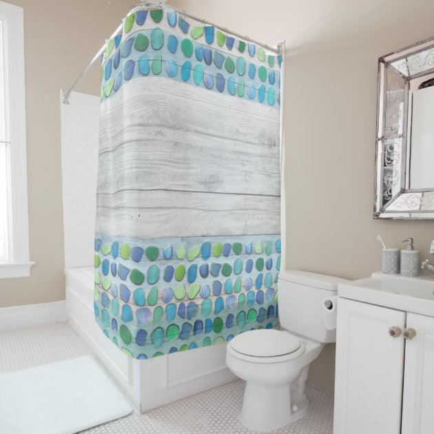 sea glass beach driftwood shower curtain zazzle com