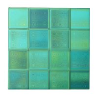 Sea Glass Mosaic Ceramic Tile | Zazzle