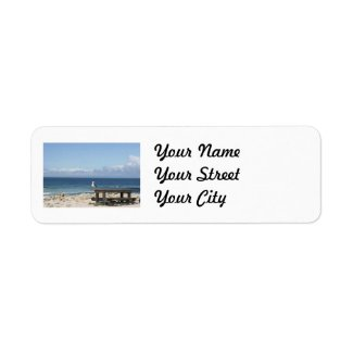 Seagull by the Sea in California Return Address Labels