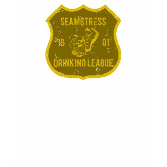 Seamstress Drinking League shirt