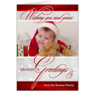 Season's Greetings Christmas Cards with Photo