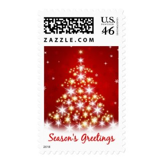 Season's Greetings Christmas Tree Postage stamp