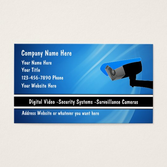 Security System Business Cards  Zazzle