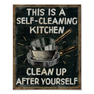 vintage posters for kitchen types of faucets retro photo prints zazzle self cleaning poster
