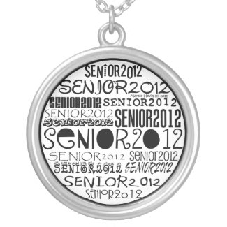 Senior 2012 (Black) Round Necklace necklace