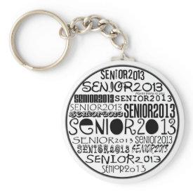Senior 2013 Round Keychain (Black)
