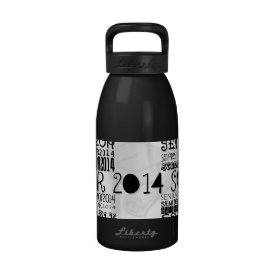 Senior 2014 Aluminum Water Bottle