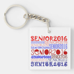 Senior 2016 Keychain Double-Sided/Personalize