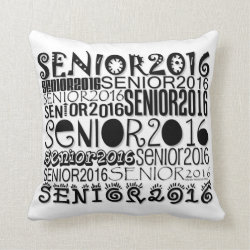 Senior 2016 Throw Pillow