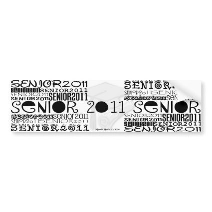 Senior Class of 2011 Bumper Sticker