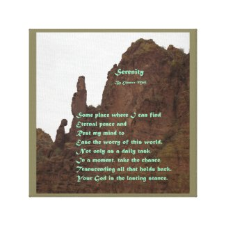 Serenity – A Poem Canvas Print
