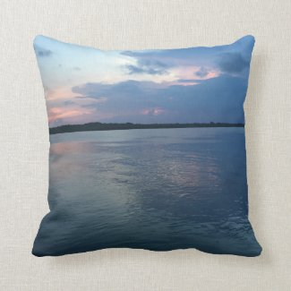 Serenity Cotton Throw Pillow 16x16