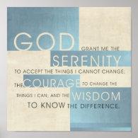 Serenity Prayer II Posters