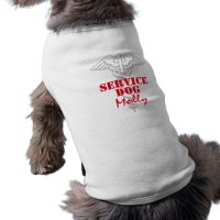 Service Dog shirt | custom canine pet clothing | Zazzle