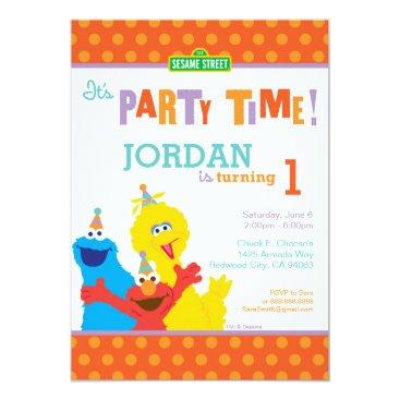 Sesame Pals Birthday Invitation