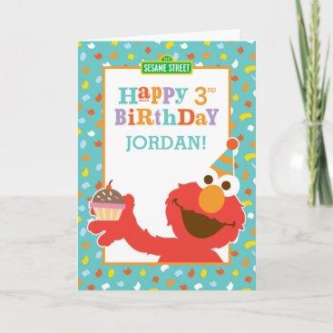 Sesame Street | Elmo - Cupcake & Confetti Birthday Card