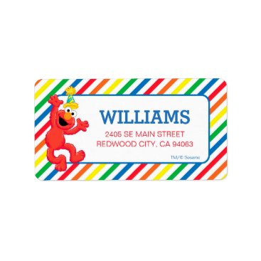 Sesame Street | Elmo - Rainbow Birthday Label