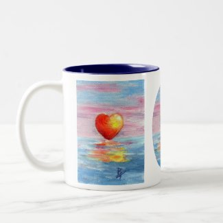 Setting Heart Mug mug