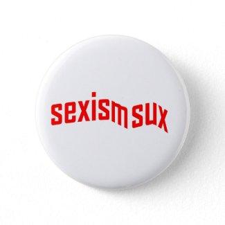 sexism sux Button button