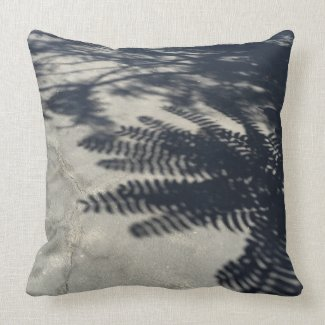 "Shadow Play Polyester Throw Pillow 20"" x 20"""