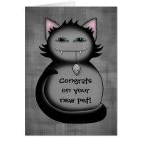 Shady kitty cat congrats new pet card