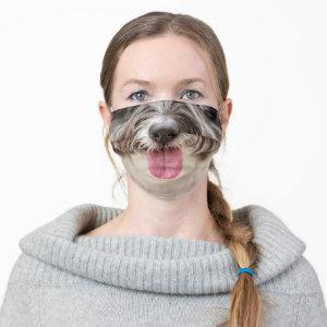 Shaggy Hair Dog Tongue Bottom Face Cloth Face Mask