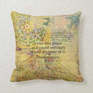 "Shakespeare funny quote ""I like this place...."