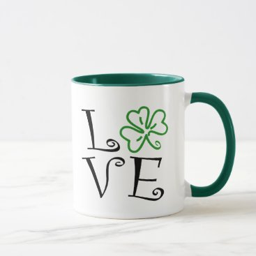 Shamrock Love - Black and Green Mug