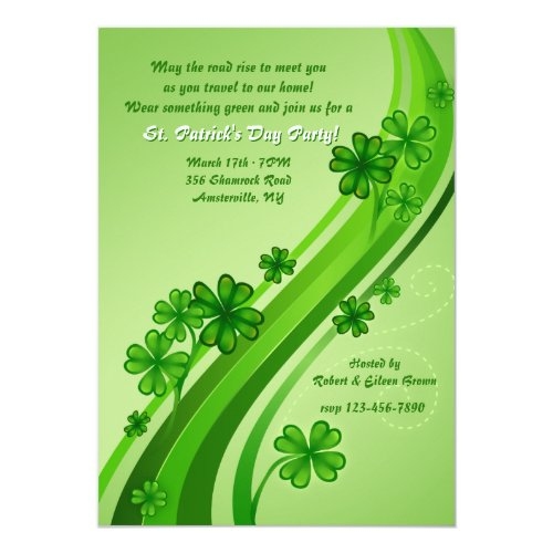 Shamrock Road St. Patrick's Day Party Invitation