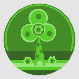 Shamrock Windmill Sticker sticker