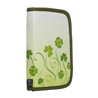 Shamrocks and clovers folio planner